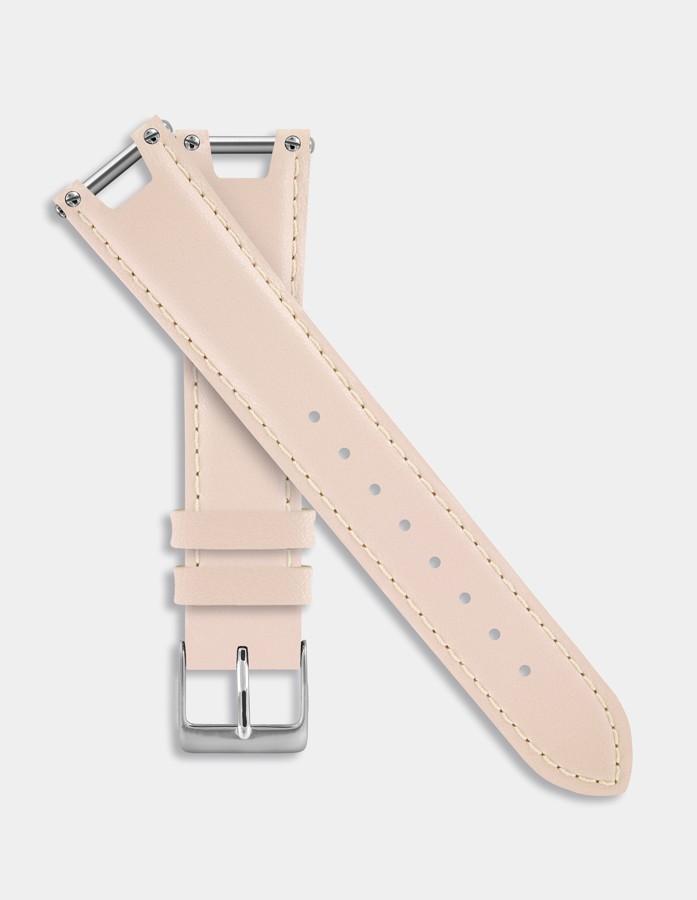 Beige leather strap