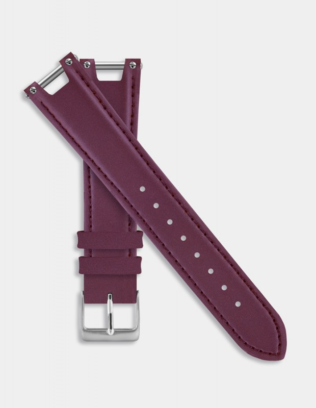 Plum leather strap