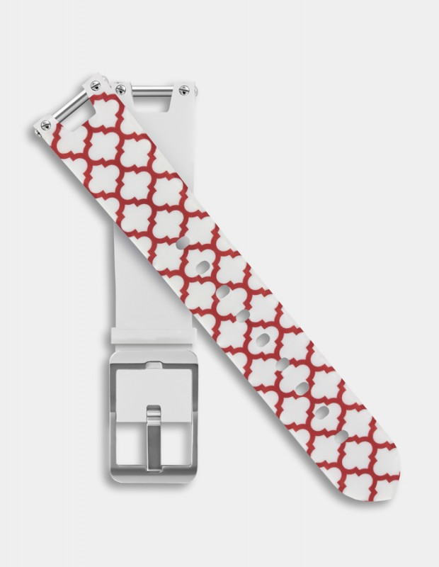 Reversible silicone strap - Cross pattern