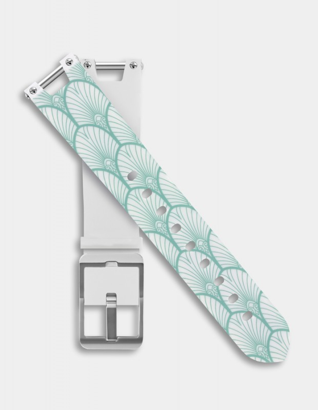 Reversible silicone strap - Shell pattern