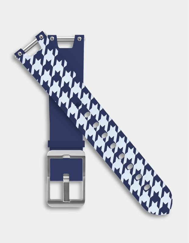 Reversible silicone strap - Houndstooth pattern