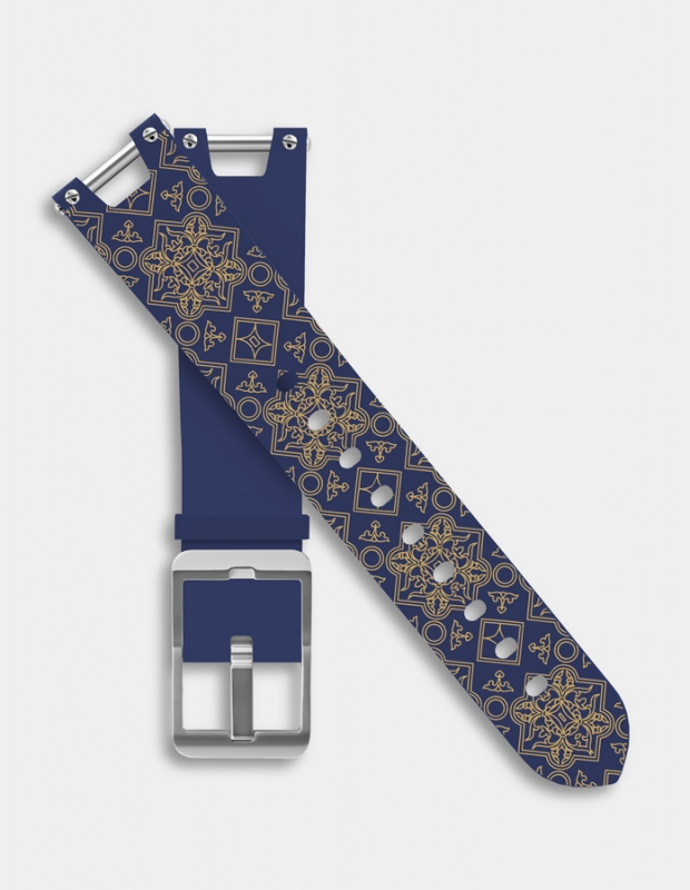 Reversible silicone strap - Rosette pattern