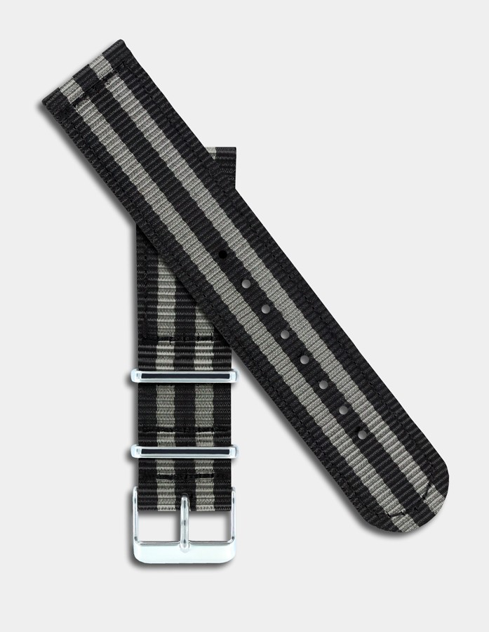 Black & grey nylon strap