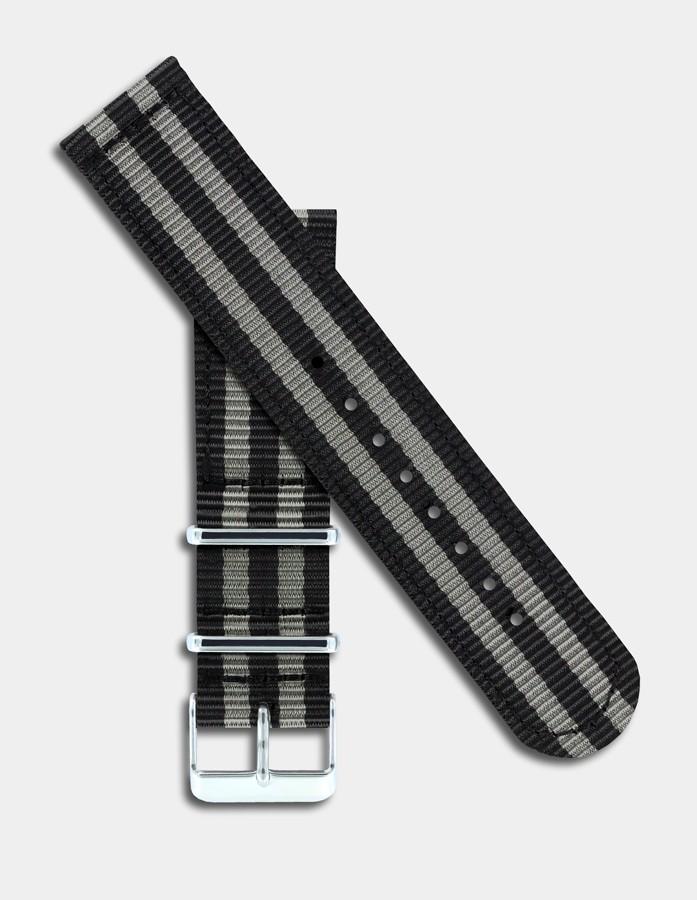 Black & grey nylon strap