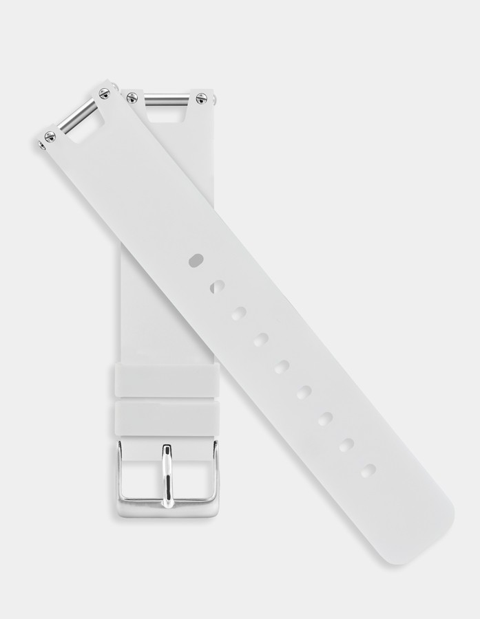 White silicone strap