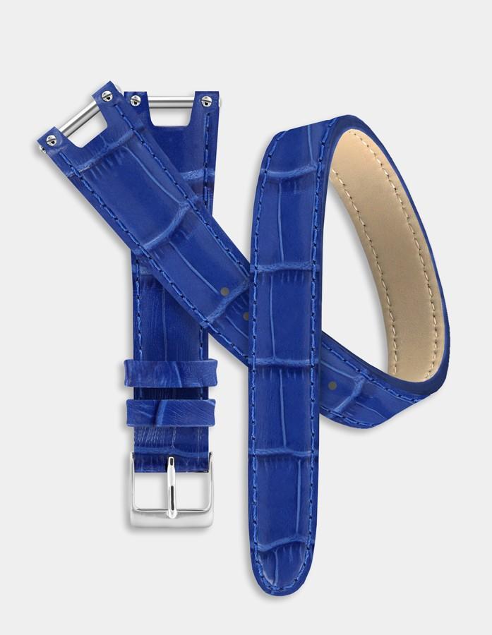 Bracelet double-tour bleu