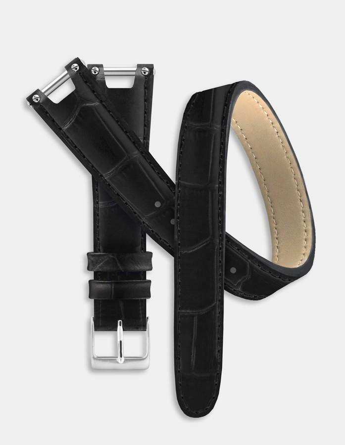 Bracelet double-tour noir