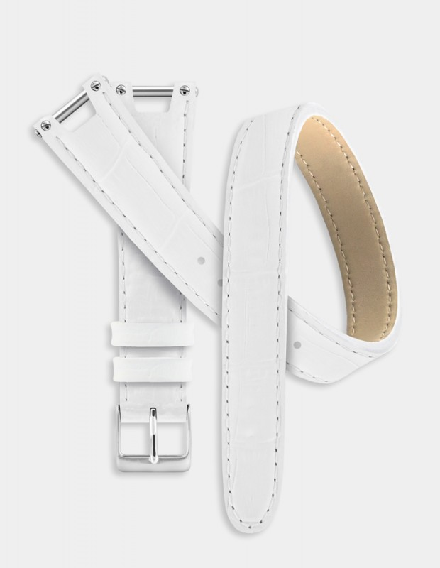 White double-tour strap