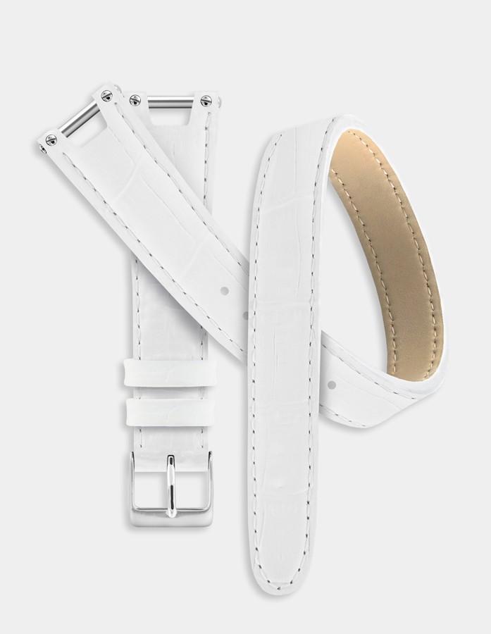 Bracelet double-tour blanc
