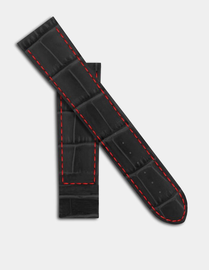 Cuir noir & rouge