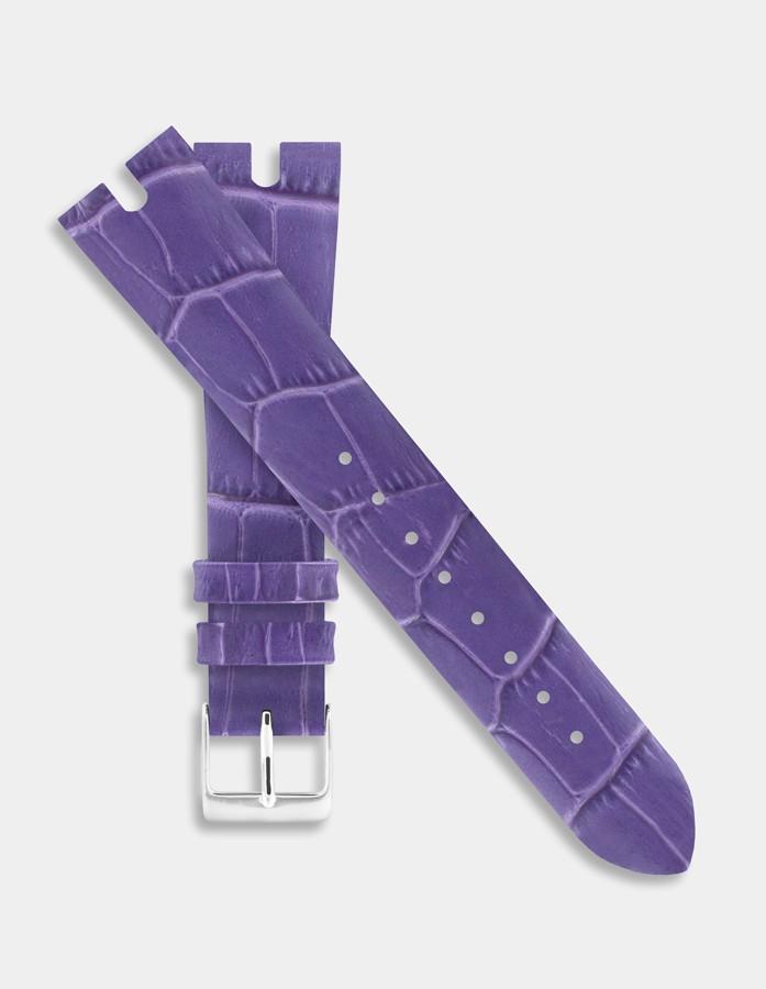 Purple leather strap