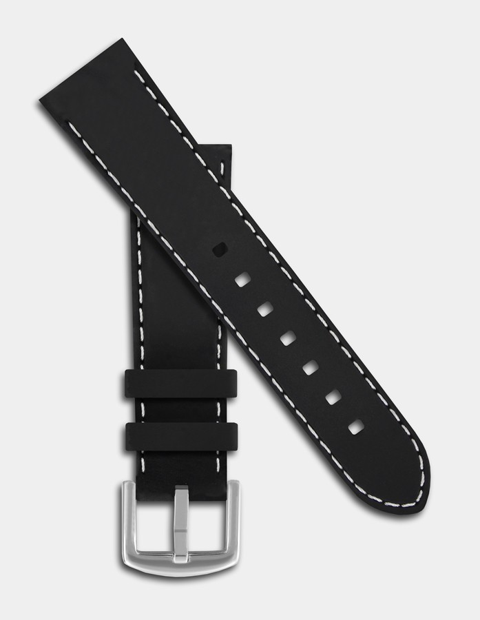 Black and white silicone strap