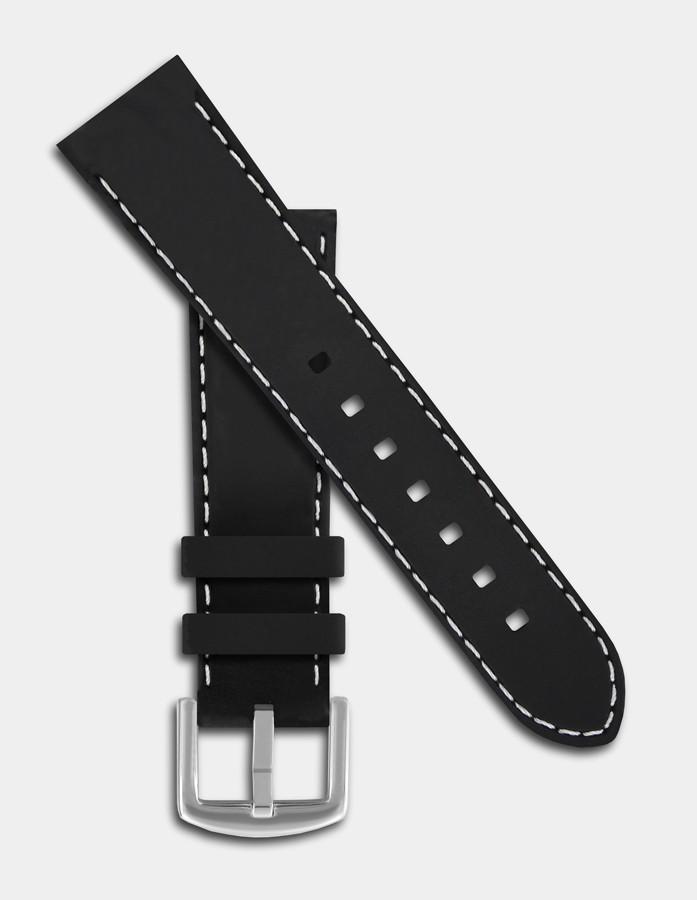 Black and white silicone strap