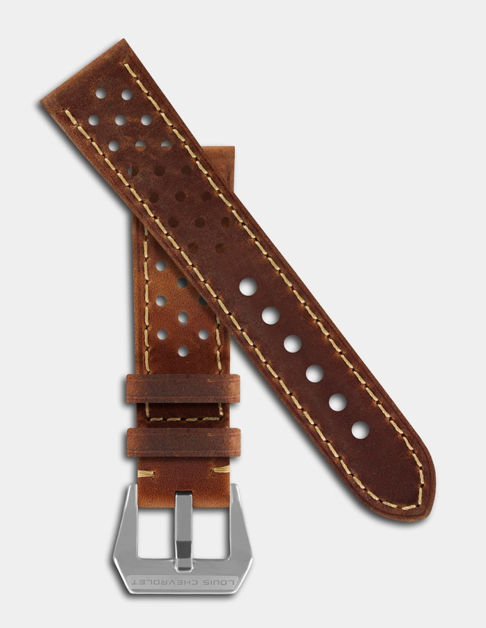Bracelet vintage cuir brun