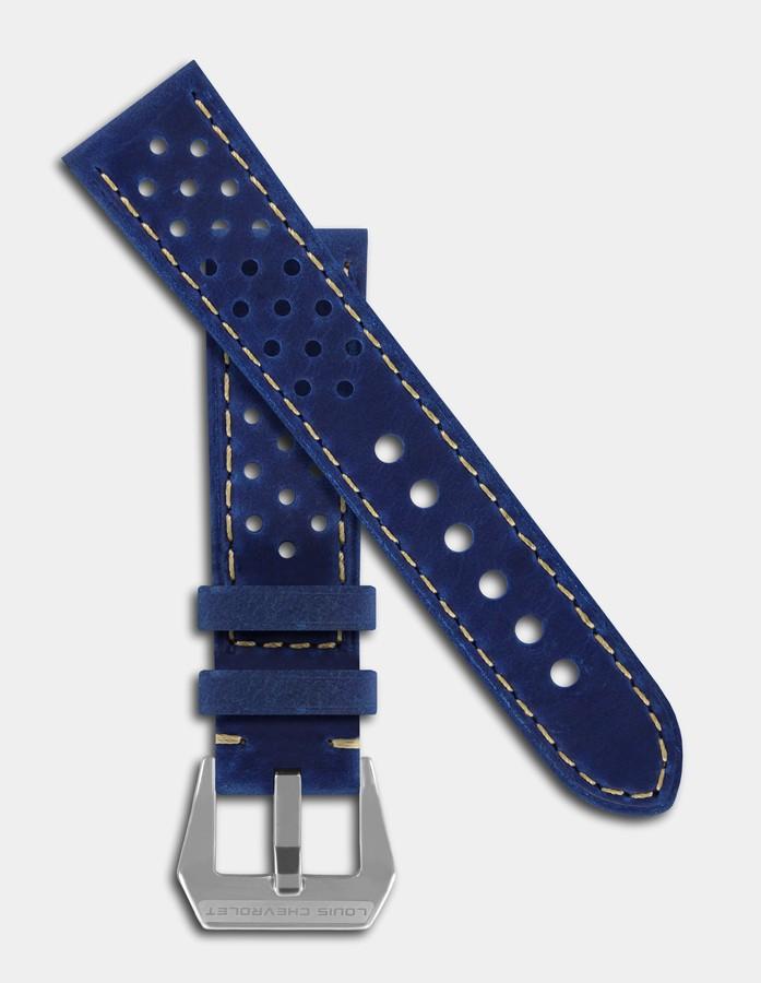 Bracelet vintage cuir bleu