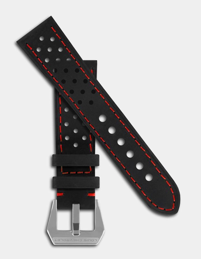 Black vintage leather strap