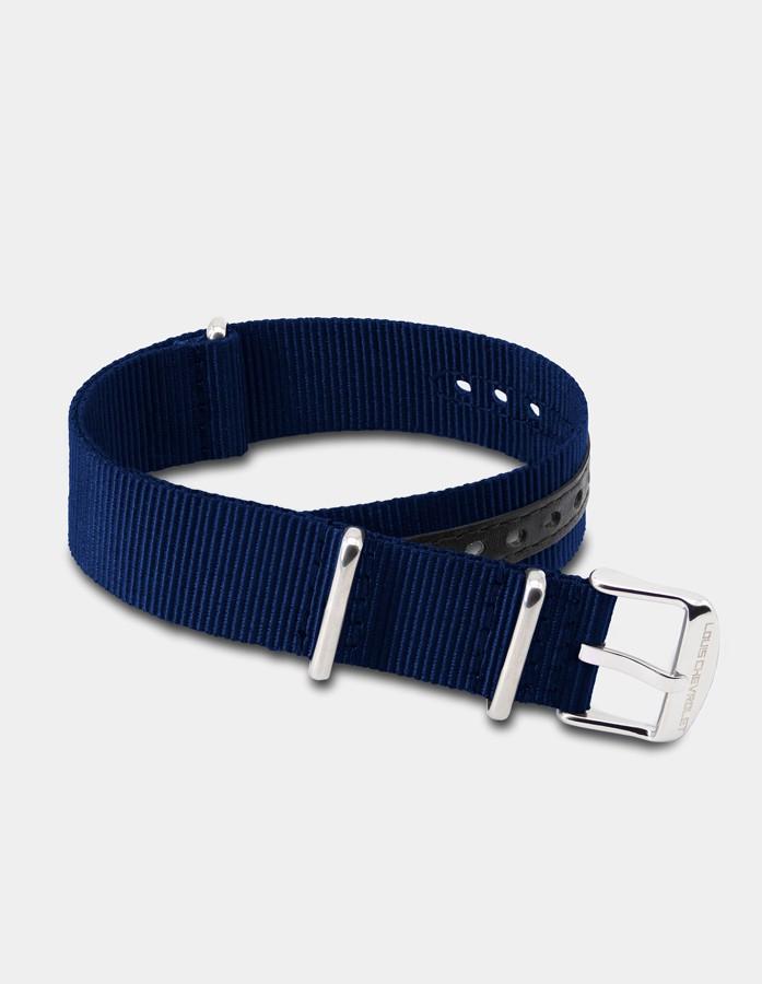 Blue nylon strap