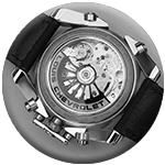 The movement of the chrono-tour is visible