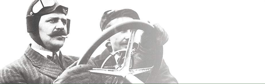 Louis Chevrolet au volant